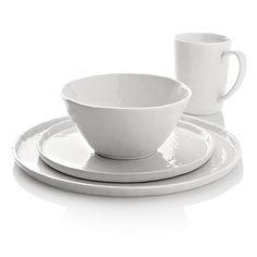 mercer dinnerware // crate and barrel Porcelain Dinnerware, Dinnerware Sets, Dinner Plate Sets, Dinner Plates, Earthenware, Stoneware, Stainless Kitchen, Appetizer Plates, Kitchen Essentials