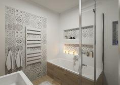 Návrhy koupelen | AŤÁK DESIGN Bathroom Renos, Grey Bathrooms, Bathroom Interior, Small Bathroom, Master Bathroom, Bad Inspiration, Bathroom Inspiration, Guest Toilet, Tub Tile