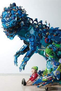 Hiroshi Fuji's installation from 50,000 recycled toys