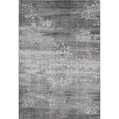 Momeni Edith Grey Area Rug 2'-3 X 7'-6 By ($209) ❤ liked on Polyvore featuring home, rugs, patterned rugs, grey area rug, grey patterned rug, grey rug and gray area rug