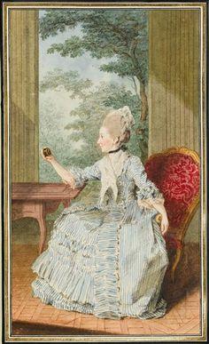 Madame la comtesse de Forbach, duchesse de Deux-ponts, Carrogis Louis Carmontelle (1717-1806).