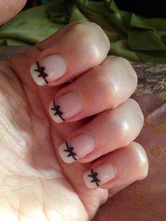 30 Black Bow Nail Decals Nail Art  NAILTHINS by NailGraphics, $3.25