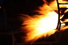 Feuer in einem Feuerkorb