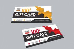 Gift Card #design Download: https://thehungryjpeg.com/product/17745-elegant-gift-card/