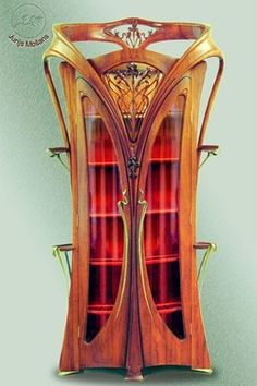Jugendstil, art nouveau cabinet. More than a little over the top, eh?