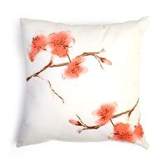 Kissen Kirschblüte koralle ca B:45 x L:45 cm