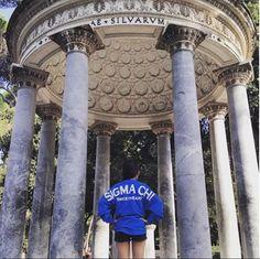 Sigma Chi Sweeheart rocking her #tgigreek Spirit Jersey in Rome <3 #sigmachisweetheart