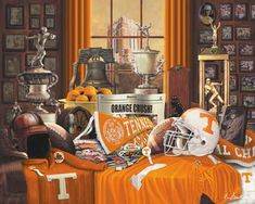 University of Tennessee Volunteer Traditions Football Art Prints