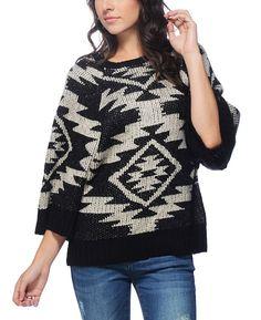 Dex Clothing Aztec Jacquard Poncho