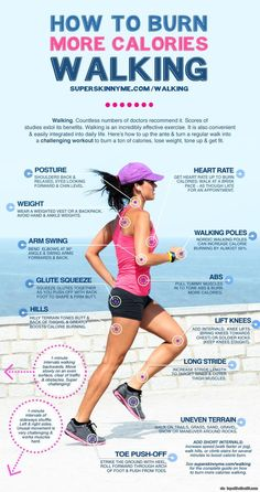How to burn more calories walking lose weight. via topoftheline99.com