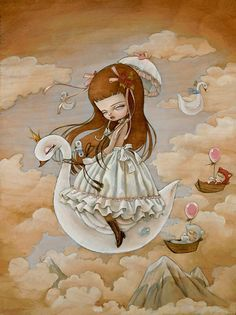 Kukula. The attempt to reconcile real life horror with fantasy life sweetness emerges as an almost constant theme in Kukula's work. Born in a relatively isolated village north of Tel Aviv, her few neighbors included several Holocaust survivors. http://www.kukulaland.com/main.php