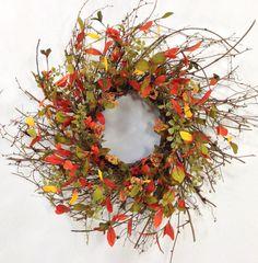 Fall Wreath Harvest Wreath Fall Door Décor by CrookedTreeCreation