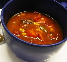 Old-Fashioned Vegetable Beef Soup from Food.com:   Better than Campbell's but just as comforting! Loosely based on a gourmet cooking magazine's recipe for Beef Barley soup, I didn't have any barley or okra, so I added root veggies to make it more hearty, like a rich broth with the chunkyness of stew. It turned out to be the best soup I've ever made! DH, stepson and baby girl kept coming back for more.