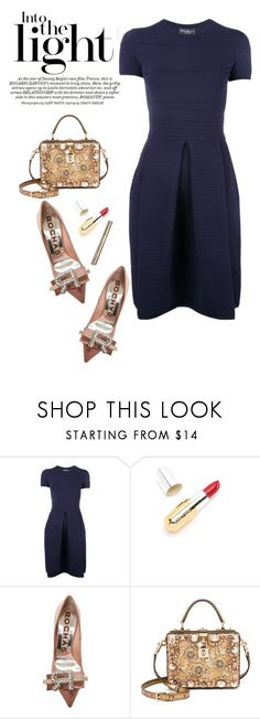 """""""Super Fancy Shoes"""" by adduncan ❤ liked on Polyvore featuring Salvatore Ferragamo, Winky Lux, Rochas and Dolce&Gabbana"""
