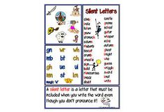 Silent Letter | Spelling Rule | Chart. See PHONOLOGICAL AWARENESS at ... www.abcteachingresources.com
