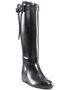 BURBERRY RAIN BOOTS - FLAT RIDING