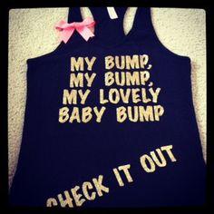 My Bump  Preggo Tank Top by RufflesWithLove on Etsy, $25.00