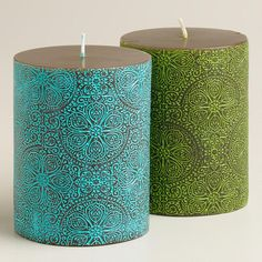 Need to Spruce Up Your Space for Fall? Check out our Mosaic Pillar Candles from Cost Plus World Market's Desert Caravan Collection. >> #WorldMarket Home Decor Ideas, Fall, #SpruceUpYourSpace