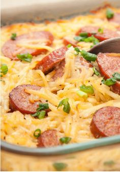 Sausage Potato Casserole – This  recipe is a crowd-pleasing classic that takes only 20 minutes to prep for the oven—thanks to the use of frozen shredded hash browns. Now that's one easy dish!