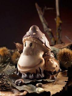 Stampo per cioccolato per realizzare fungo autunnale. www.decosil.it Mould for chocolate mushroom. www.decosil.eu, Moule en Silicone pour chocolat Champignons. www.decosil.fr