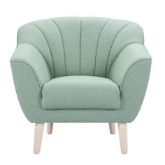 Fauteuil Naranja - stof - mint Cosy Corner, Blue Walls, Living Room Inspiration, Tub Chair, Decoration, New Baby Products, Accent Chairs, Armchair, Sweet Home
