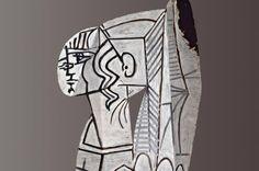 """Aus der Ausstellung """"My Private Passion - Sammlung Hubert Looser"""": Pablo Picasso, Sylvette, 1954, Beidseitige Ölmalerei auf ausgeschnittenem Metallblech, 69,9 x 47 x 1 cm © VBK Wien 2012    Von 26.4. bis 15.7. 2012 im Bank Austria Kunstforum!"""