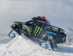Watch Ken Block Assault a Mountain with His Beastly Tracked F-150 RaptorTRAX