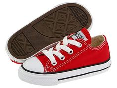 Red. Converse Kids Chuck Taylor® All Star® Core Ox (Infant/Toddler) - Zappos.com Free Shipping BOTH Ways