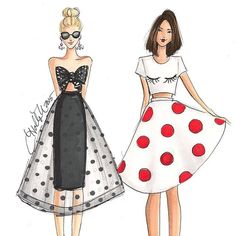 All work on this page ©Holly Nichols. Please credit if sharing 💗Boston-based professional fashion. Art And Illustration, Fashion Illustration Hair, Fashion Illustration Tutorial, Fashion Illustrations, Fashion Design Drawings, Fashion Sketches, Fashion Art, Girl Fashion, Fashion Ideas