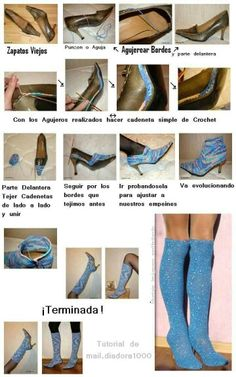 Zapatos; what a cool idea, thanks for sharing this tutorial!