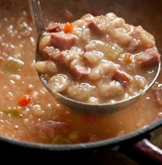 White Bean and Ham-Bone Stew - This recipe is an easy and satisfying way to transform leftover ham and a ham bone into a hearty meal.