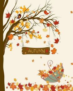 Fall Umbrella by Secretly Spoiled Graphic Art - Fall Crafts For Toddlers Fall Arts And Crafts, Autumn Crafts, Autumn Art, Autumn Trees, Autumn Leaves, Fall Crafts For Toddlers, Toddler Crafts, Preschool Crafts, Fall Halloween