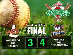Escárcega, Campeche, 22 de octubre de 2016.- En un juego cardiaco y donde los Piratas de Escárcega, salieron con los brazos en alto al dejar...