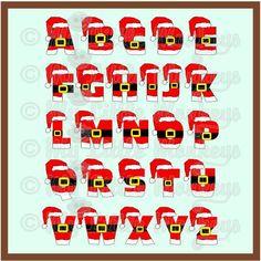 Santa Alphabet numérique fichier par MyLittleMonkeysGifts sur Etsy