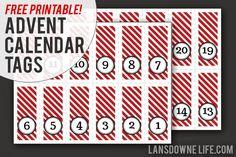 Last minute DIY advent calendar + FREE printable number tags!   Lansdowne Life