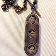 Found object family necklace by Crozza on Etsy