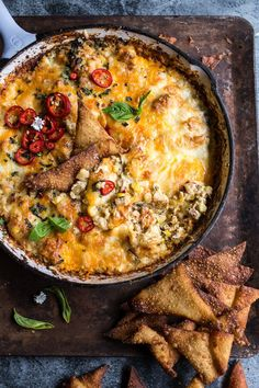 Cheesy Miso Caramelized Corn and Pineapple Chile Dip | halfbakedharvest.com @Half Baked Harvest