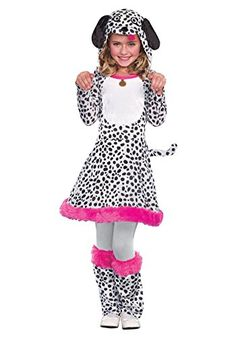 Sugar Sugar Seeing Spots, Dalmatian Dog Puppy Halloween Costume, Girls, Large