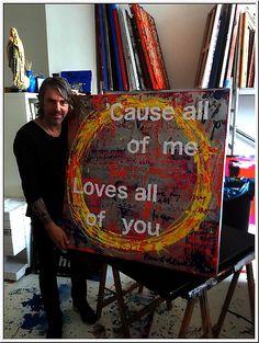 Ruud de Wild - All Of Me 110 x 110 cm. In opdracht geschilderd. Excellent Art Utrecht