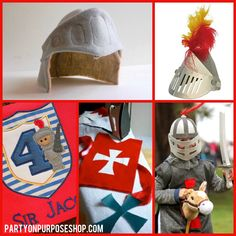 knights and dragons party activities and favors