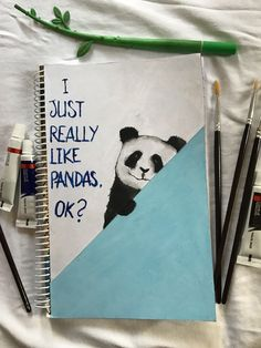 I Just Really Love Pandas 🐼 DIY Watercolour Panda Notebook Watercolour, Diys, Notebook, Pandas, Xmas, Watercolor, Watercolor Painting, Bricolage, Do It Yourself