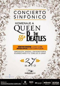 El homenaje a Queen & The Beatles contará con la participación de la Orquesta Juvenil Universitaria Eduardo Mata y el Coro de la UNAM, dirigidos por Louis Clark, con la participación especial de Elena Durán en Flauta.