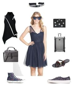 """""""Royal look"""" by emmamegan-5678 ❤ liked on Polyvore featuring Monique Lhuillier, Under Armour, Converse, Ann Demeulemeester, Oliver Peoples, Tumi, Melissa, Vans, Kendall + Kylie and STELLA McCARTNEY"""