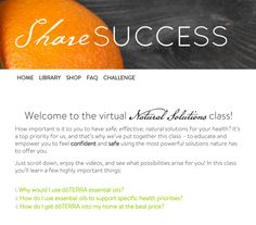 Have you heard about the new Natural Solutions Virtual Class? Check it out at http://www.sharesuccess.com/class! You'll find simple yet powerful tools all in one place to educate and empower yourself so you feel confident and safe using the most powerful solutions nature has to offer. Take advantage of this great resource and share with your teams! #shareoilsuccess