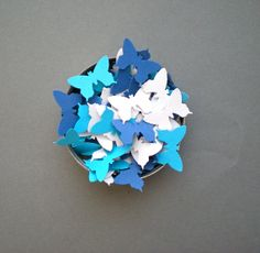 Cool Colors Butterflies Confetti  Hand Punched by decoraland, €8.99