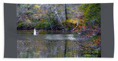 Fall Bath Sheet featuring the photograph Fall Flight by Scott Hervieux