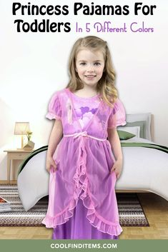 Five different colors of princess pajamas for toddler girls to select choose from. #pajamas #nightgown #nightgowns #toddlerclothing #toddlerclothes #princess Toddler Outfits, Toddler Girls, Nightgowns, Cool Things To Buy, Stuff To Buy, Different Colors, Gift Guide, Birthday Gifts, Pajamas