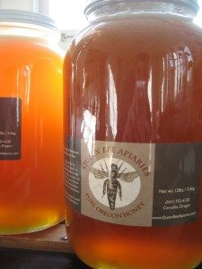 Queen Bee Apiaries Raw Honey from Corvallis--Our house favorite!