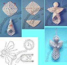 Crochet Christmas Gifts, Christmas Knitting, Crochet Gifts, Crochet Snowflakes, Snowflake Ornaments, Christmas Ornaments, Crochet Doily Patterns, Crochet Doilies, Crochet Hat Tutorial