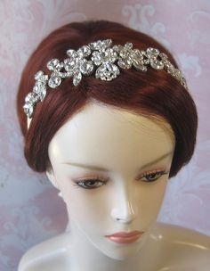 Sparkling Rhinestone Headband Bridal Headpiece by TheRedMagnolia, $88.00